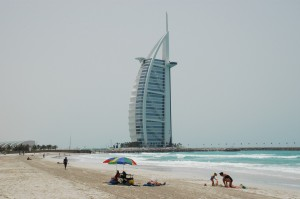 Jumeirah Beach, Dubai, site of an investment conference.